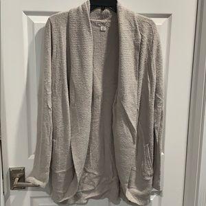 Barefoot Dreams Light Grey Cardigan L/XL